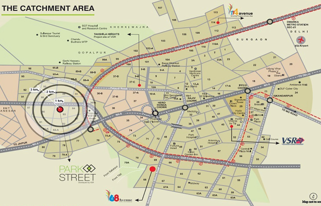 VSR Park Street Location Map